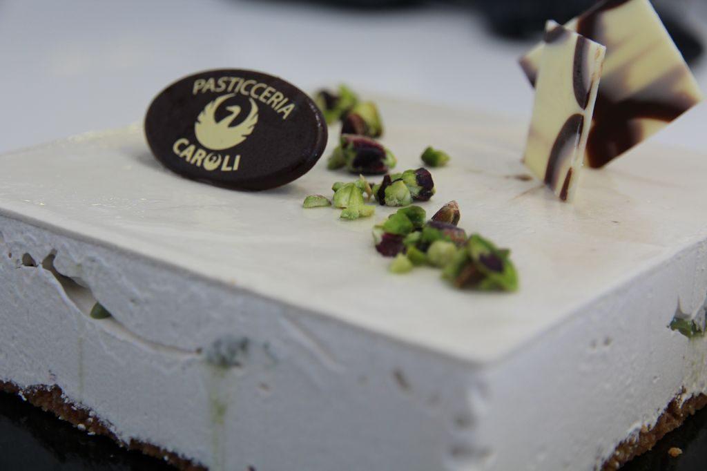 Cheesecake al pistacchio Pasticceria Caroli