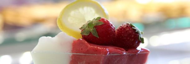 gelato fragola e limone